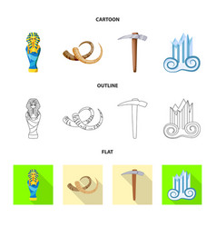isolated object of story and items symbol vector image