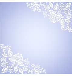 Lace fabric white frame vector
