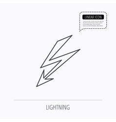 Lightening bolt icon Power supply sign vector image