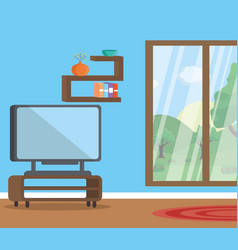 living room flat image design vector image