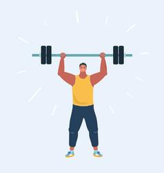 Man doing exercises vector