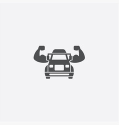 muscle truck icon vector image
