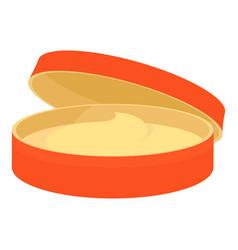 Orange cosmetic jar icon cartoon style vector