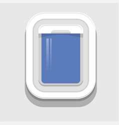 plastic open plane window vector image