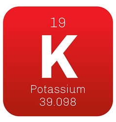 Potassium chemical element vector image