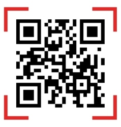 Qr code sample vector image