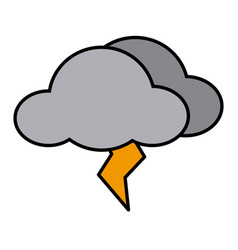 rainy cloud symbol vector image