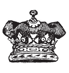 Royal duke coronet is a coronet never has arches vector