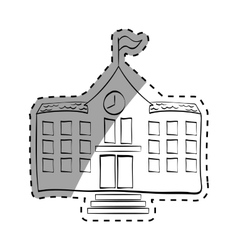 School building draw vector