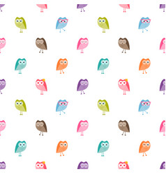 Seamless pattern with funny owls vector