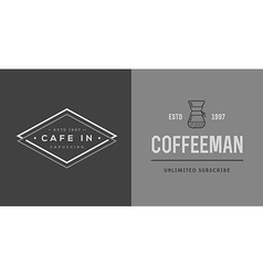 Set of Coffee Logotype Templates and Coffee vector