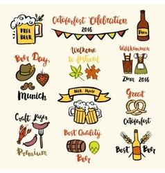 Set of Octoberfest beer vector