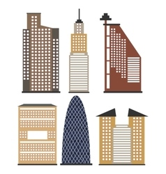 Set of skyscrapers for infographics vector