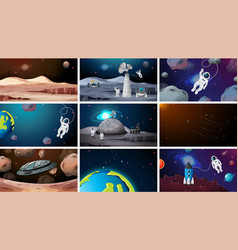 set space backgrounds vector image