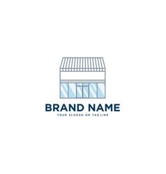 Shop building design template vector
