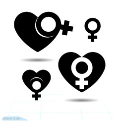 signs gender icon of the heart a symbol of vector image