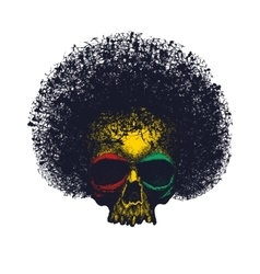 Skull reggae tee graphic design vector