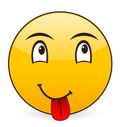 Smile emoticon vector