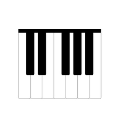 Standard piano octave vector image