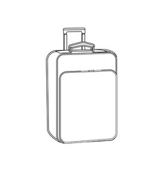 suitcase outline vector image