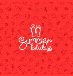 summer holidays red banner vector image