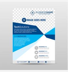 Tech flyer template vector