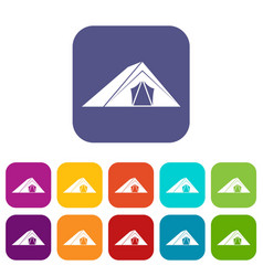 Tent icons set vector