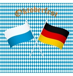The flags of Germany and Bayern Munich vector