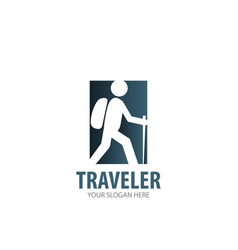 traveler logo for business company simple vector image