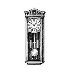 vintage pendulum clock vector image