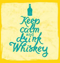 Whiskey lettering art vector