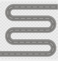 Winding curved road vector