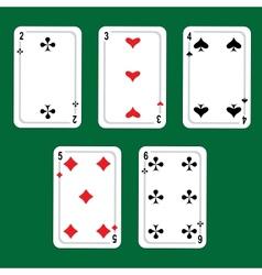 Winning poker hand vector