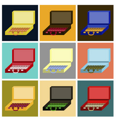 assembly of flat icons case of money vector image vector image