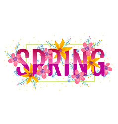banner for spring vector image vector image