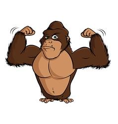 gorilla flexing vector image