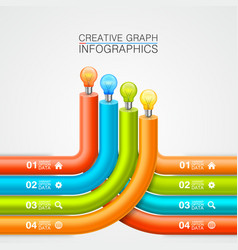 idea of bulbs in the chart vector image vector image