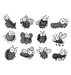 insect cartoon character for childish design vector image vector image