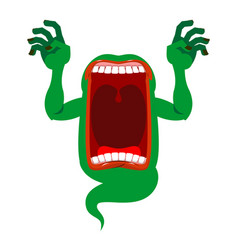 mysterious phantom angry hungry spirit scary vector image vector image