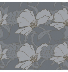 seamless wallpaper with poppy flowers vector image vector image