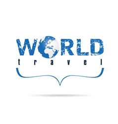 world travel with planet earth vector image