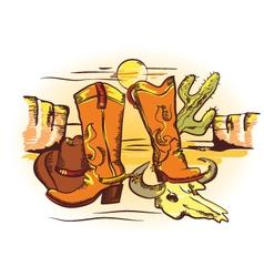 cowboy elements vector image vector image