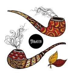Doodle Pipes Set vector image vector image