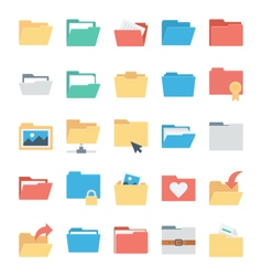 Files and Folders Icons 1 vector image