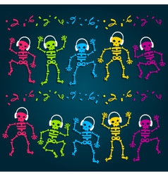 Party Skeletons vector image vector image