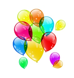 Set colorful balloons on white background for your vector image vector image