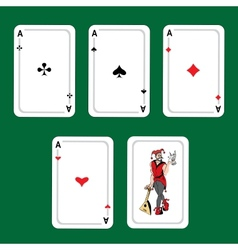 winning poker hand vector image vector image