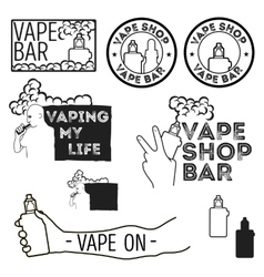 Electronic cigarettes set vector image vector image