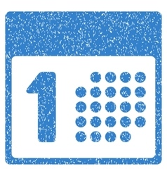 First day grainy texture icon vector