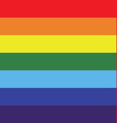 Rainbow stripe vector image